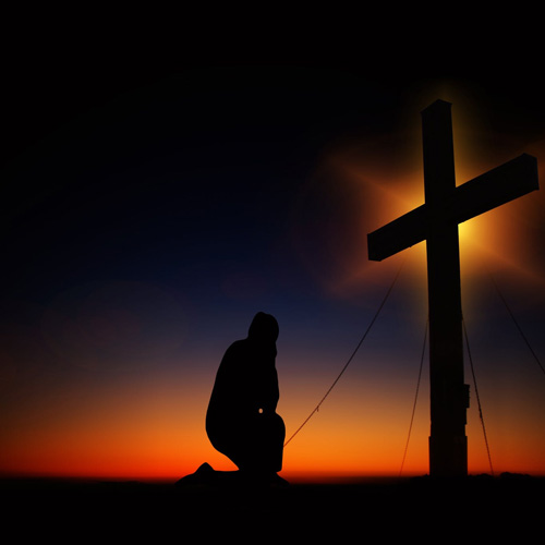 Bowing At The Cross