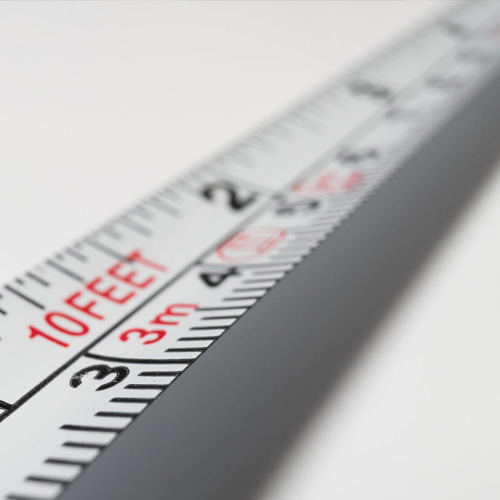 Tape measure extended